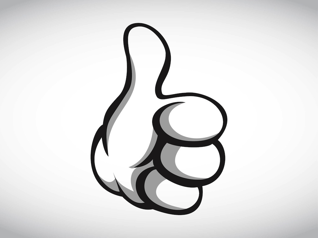 Cartoon Thumbs Up Clipart.