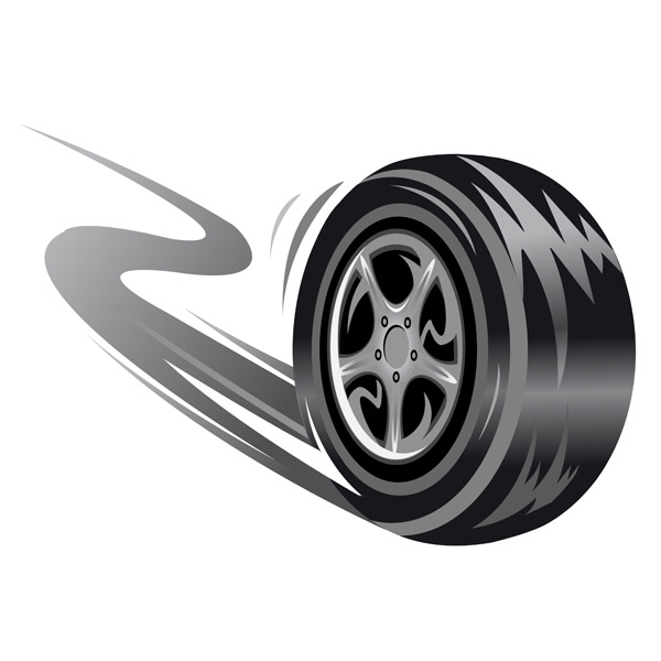 14 Free Vector Cartoon Tire Images.
