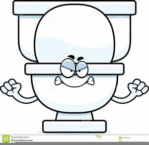 Cartoon Toilet Clipart.