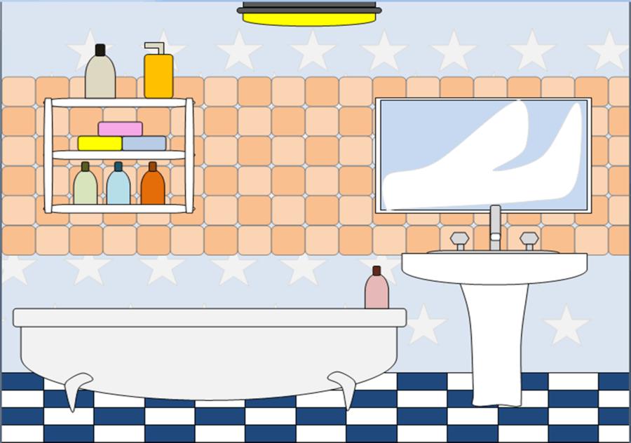 Bathroom Cartoon clipart.