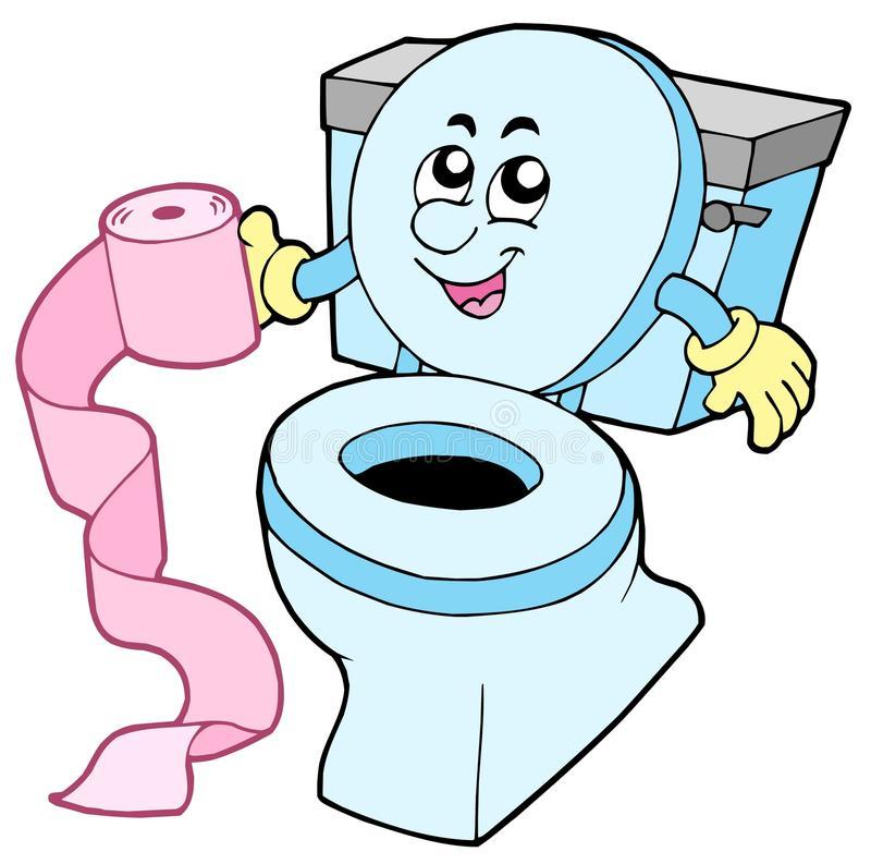 Cartoon Toilet Stock Illustrations.
