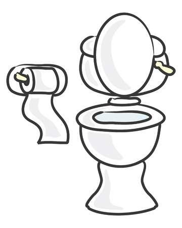 7,352 Cartoon Toilet Stock Vector Illustration And Royalty Free.