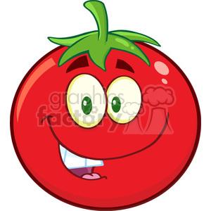 8388 Royalty Free RF Clipart Illustration Tomato Chef Cartoon Mascot.