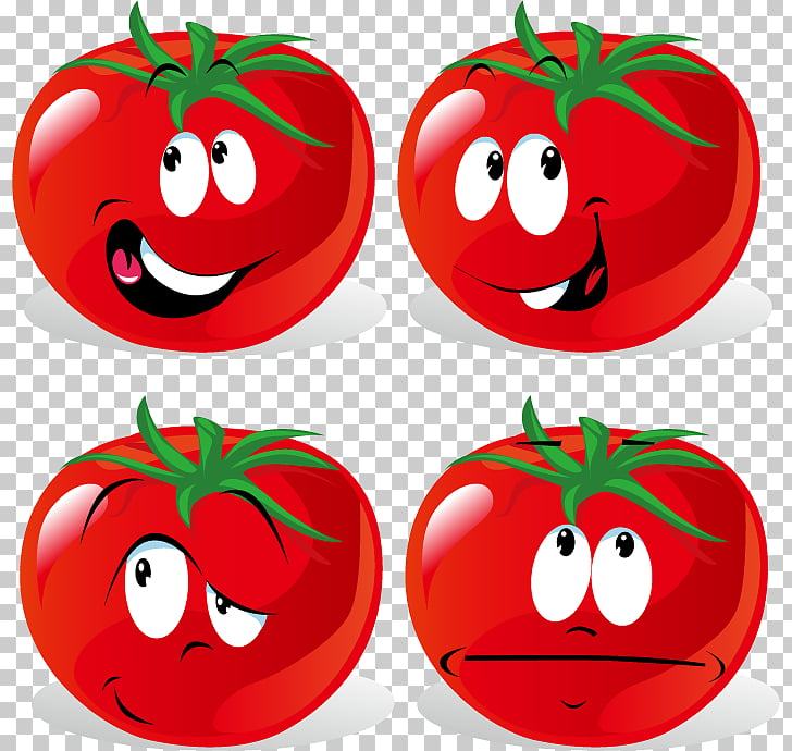 Tomato Cartoon Vegetable , tomatoes expression material.