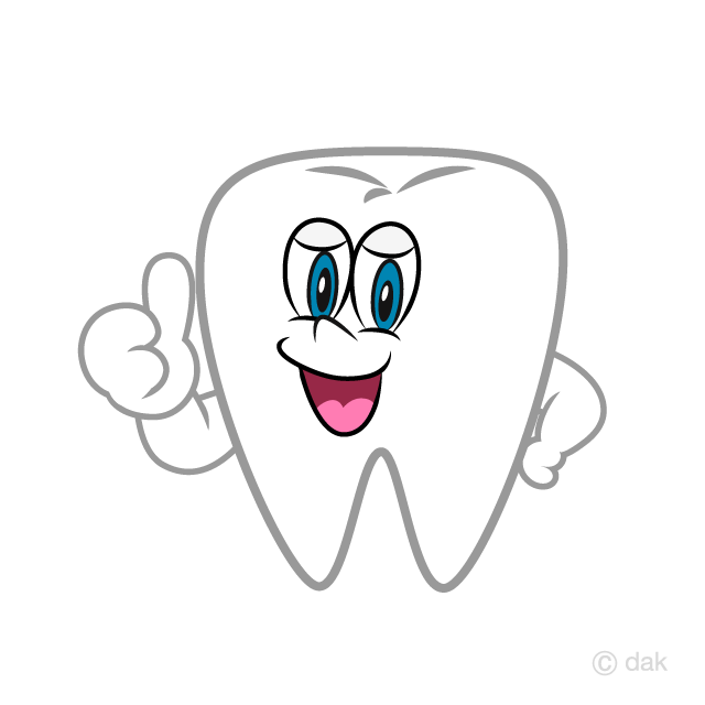 Thumbs up Tooth Cartoon Free Picture|Illustoon.