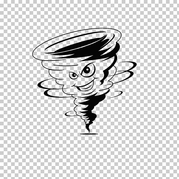 Tornado Cartoon Wind Storm, Tornado strokes PNG clipart.