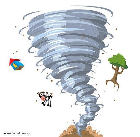 Cartoon tornado Clipart Picture Free Download.