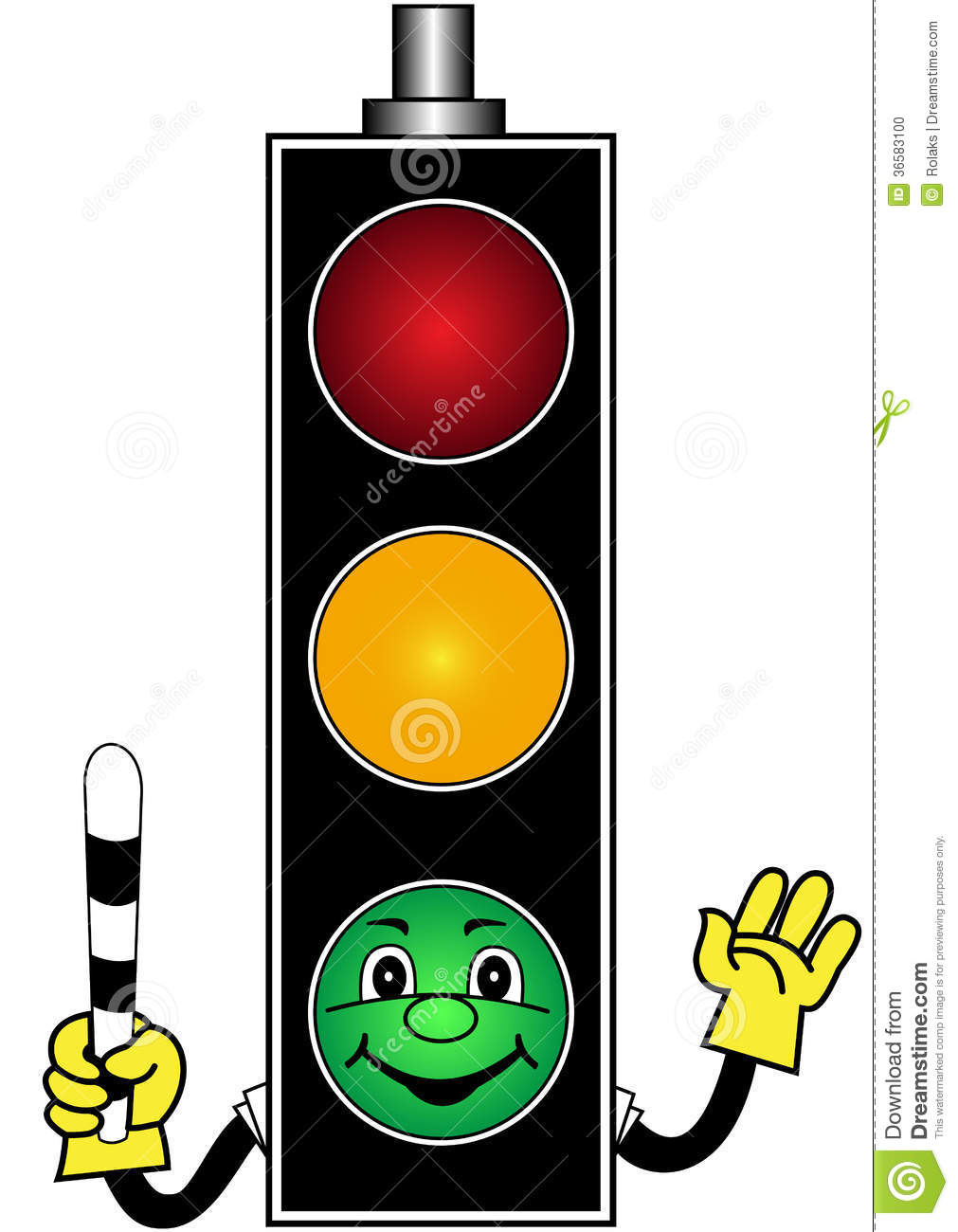 Showing post & media for Green traffic signal cartoon.
