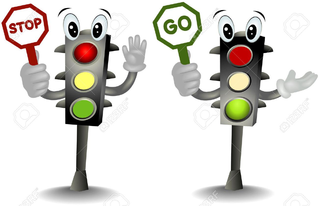 Cartoon Traffic Light Clipart.