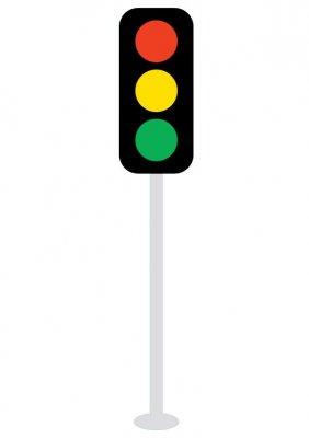 Cartoon Traffic Light.