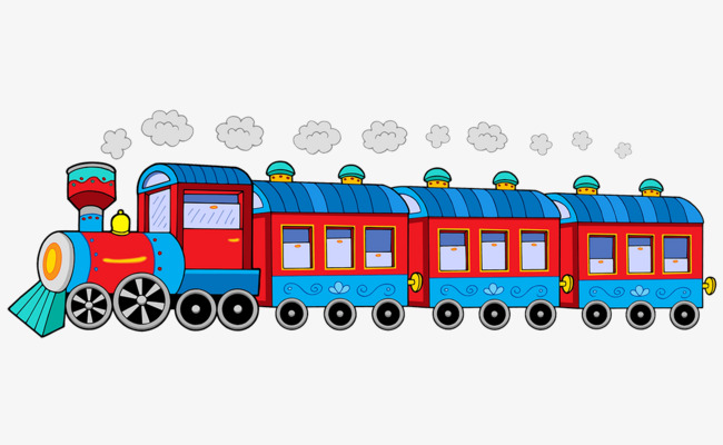 Cartoon Cute Old Steam Train, Cartoon Clipart, Cute Clipart, Train.