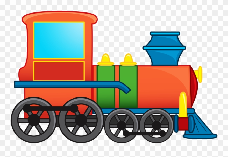 Illustration Of Cartoon Train Vector Art.