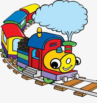 Cartoon Train On The Track PNG, Clipart, Cartoon Clipart, Glasses.