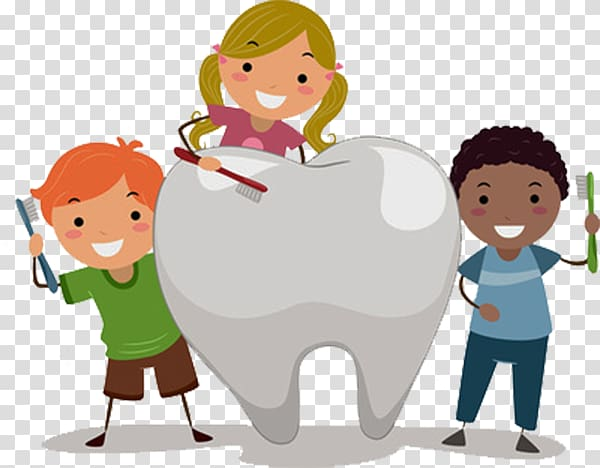 Pediatric dentistry Child Tooth decay, Teeth and cartoon kids.
