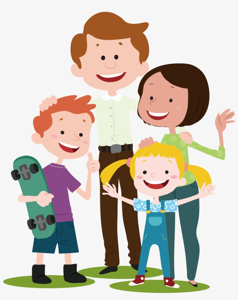 Vector Cartoon Family.