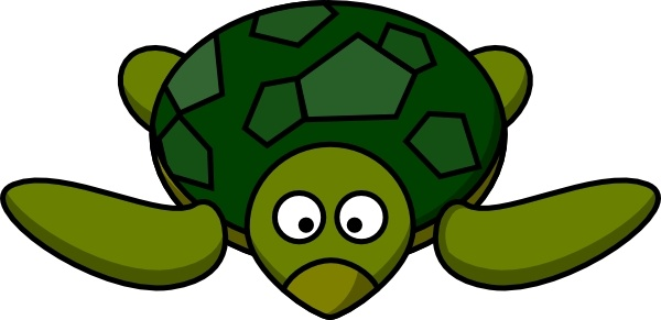 Cartoon Turtle clip art Free vector in Open office drawing svg.