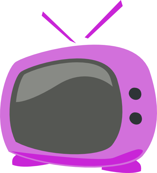 Purple Cartoon Tv Clip Art at Clker.com.