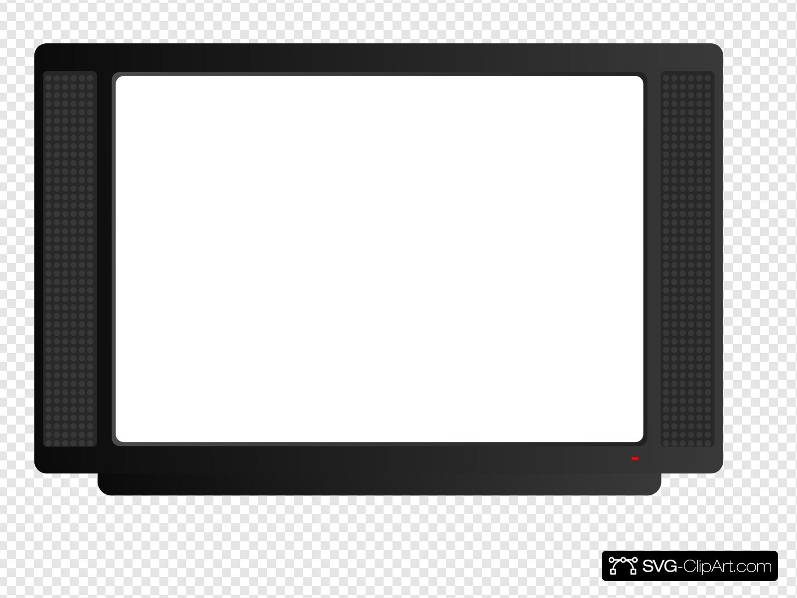 White Cartoon Tv Clip art, Icon and SVG.