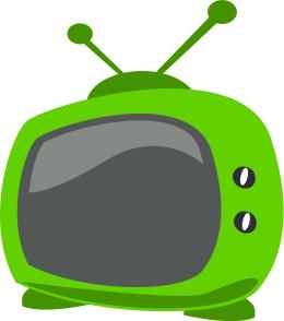 cartoon tv green.
