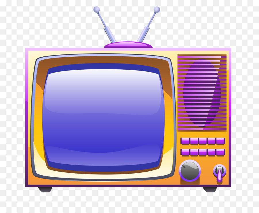 Download Free png Television set Cartoon Broadcasting Illustration.