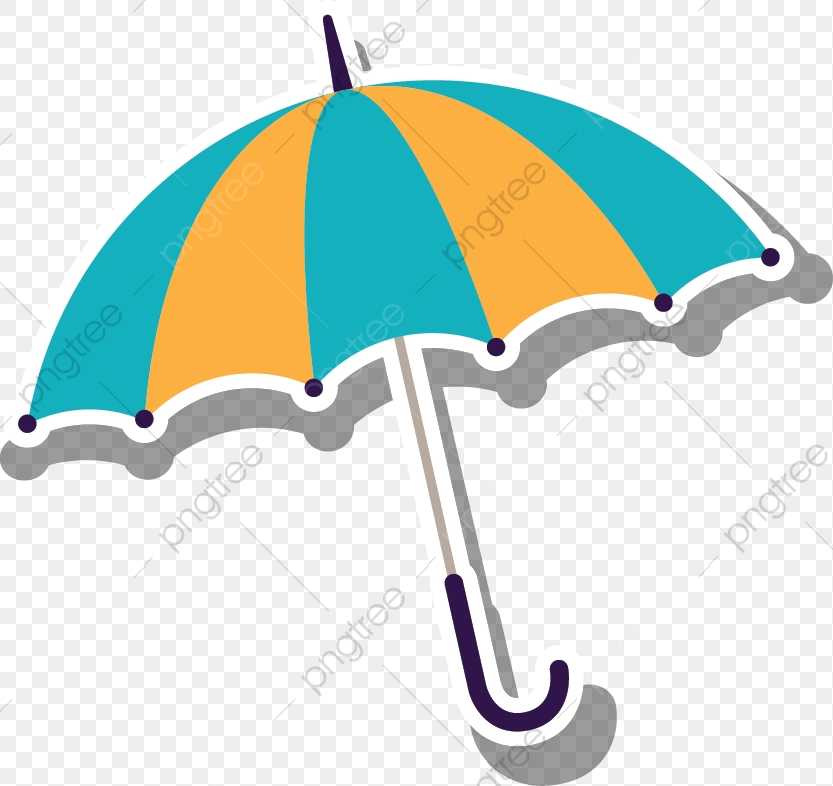 Cartoon Umbrella Creative, Cartoon Clipart, Umbrella Clipart.