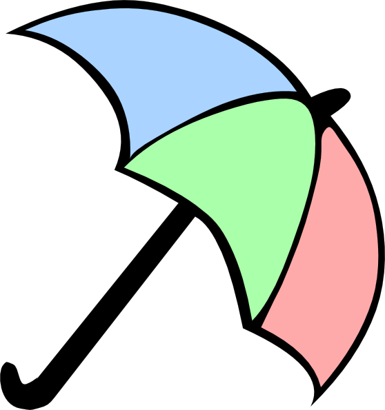 Colorful Cartoon Umbrella Clip Art at Clker.com.