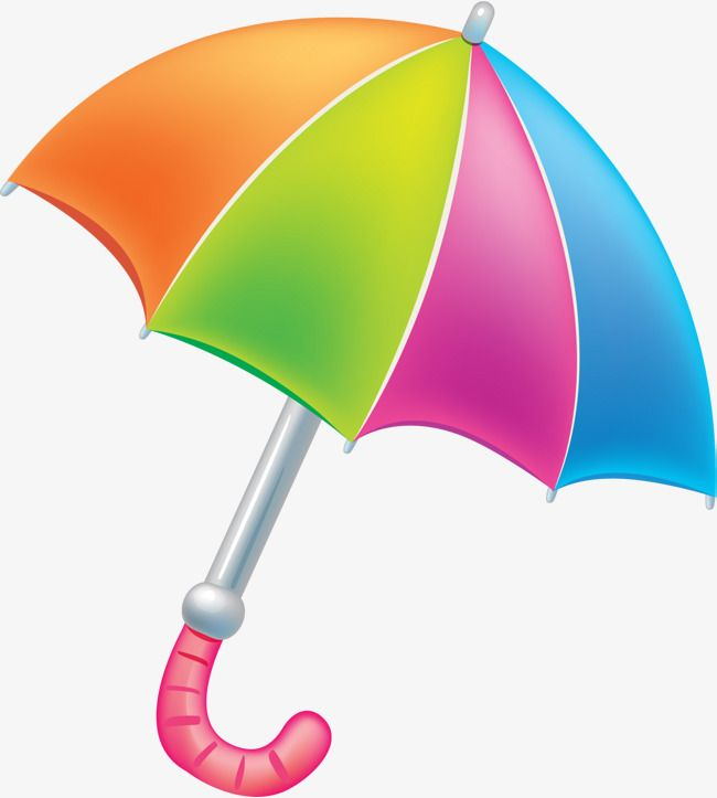 Colorful Cartoon Umbrella.