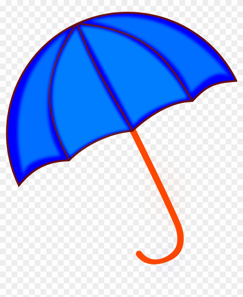 Umbrella Blue Rain Weather Png Image.