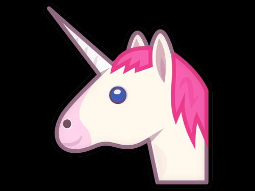Cartoon Unicorn transparent PNG.