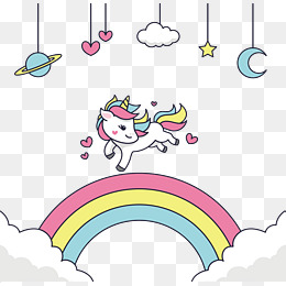 Cute Unicorn PNG Images.