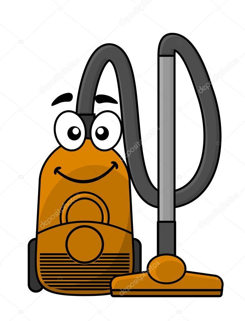 Cute cartoon vacuum cleaner — Stock Vector © Seamartini #39586109.