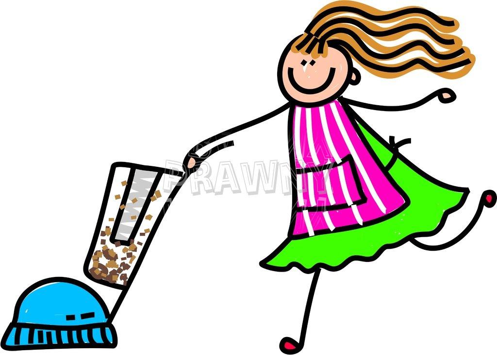 Happy Cartoon Vacuum Cleaner Kid Toddler Art Prawny Clip Art.