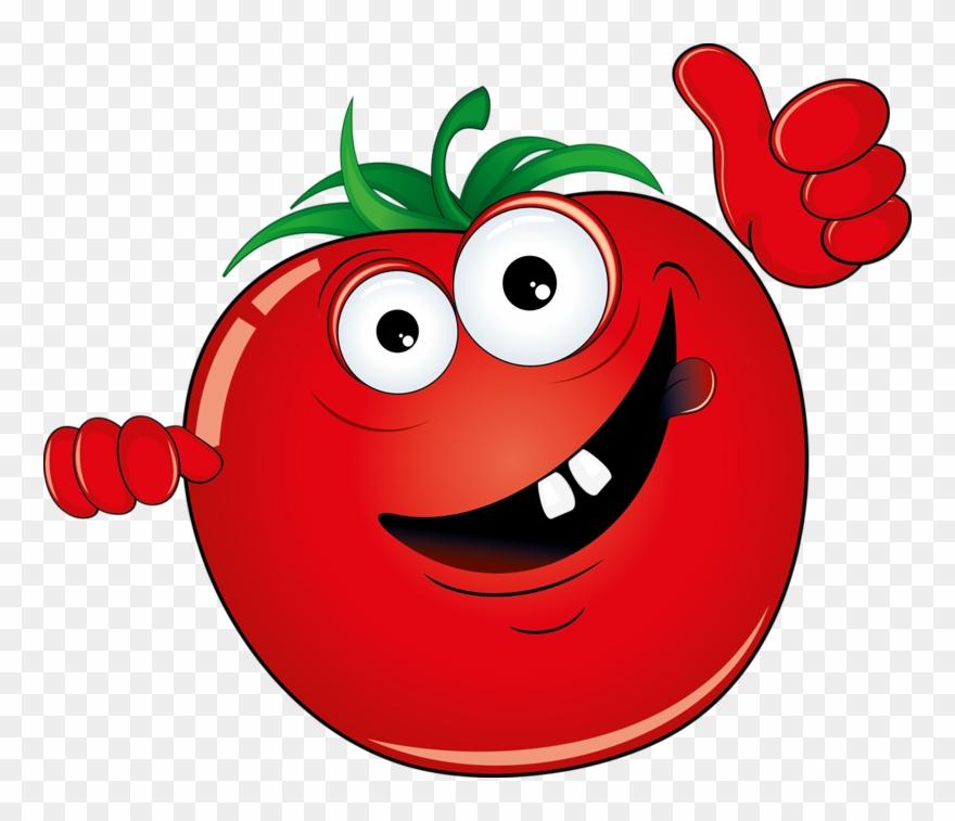 Vegetable Cartoon Illustration Red Banner Transparent.