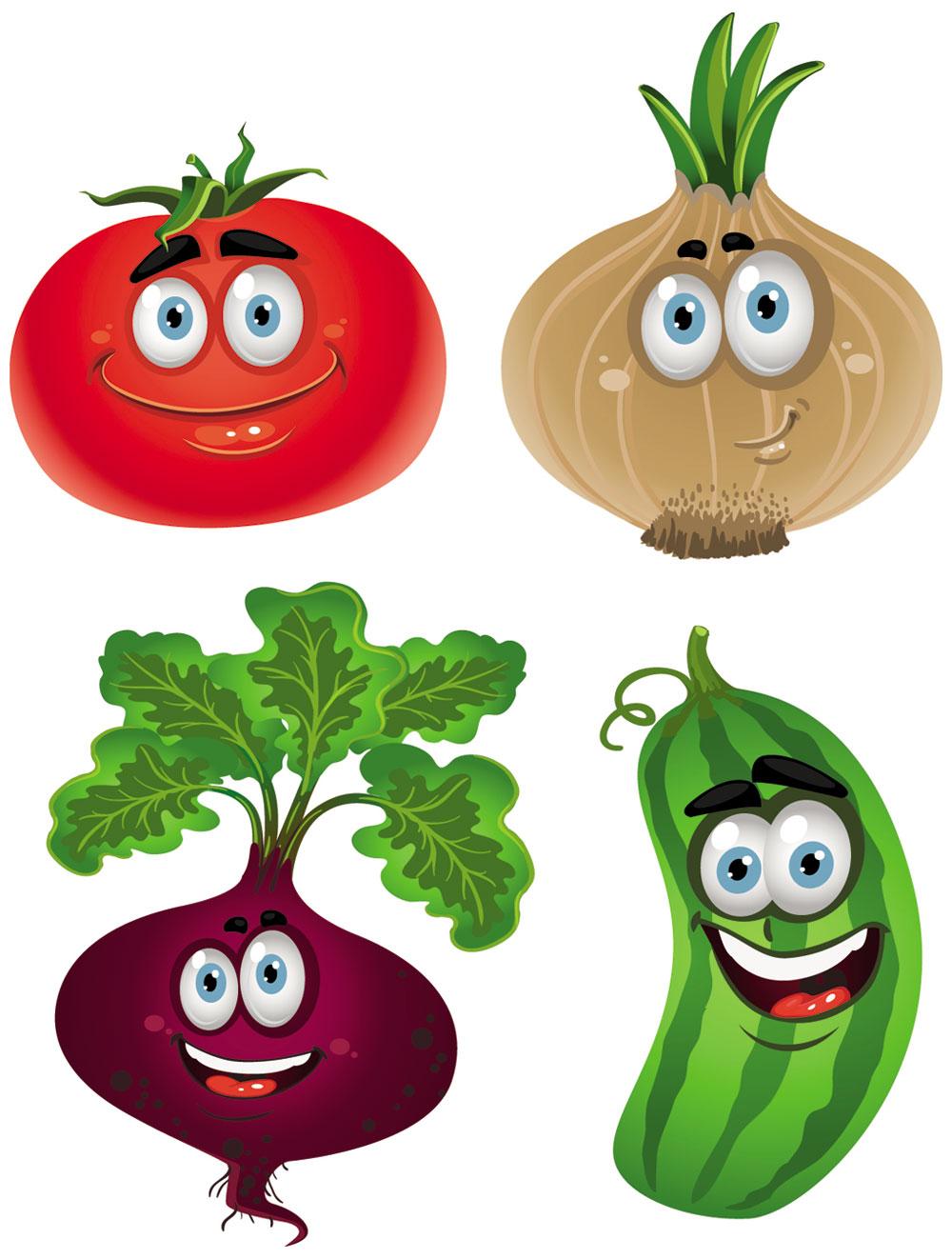 Cartoon vegetable clipart clipartix.