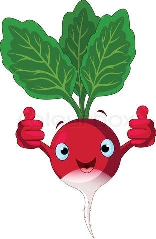 Vector of 'cartoon, vegetables, clipart' on Colourbox.