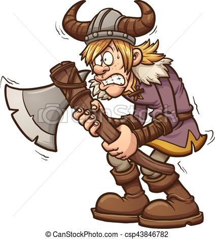 Scared viking.