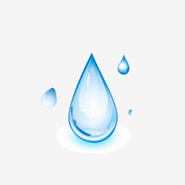 Cartoon Water Drops PNG Images.