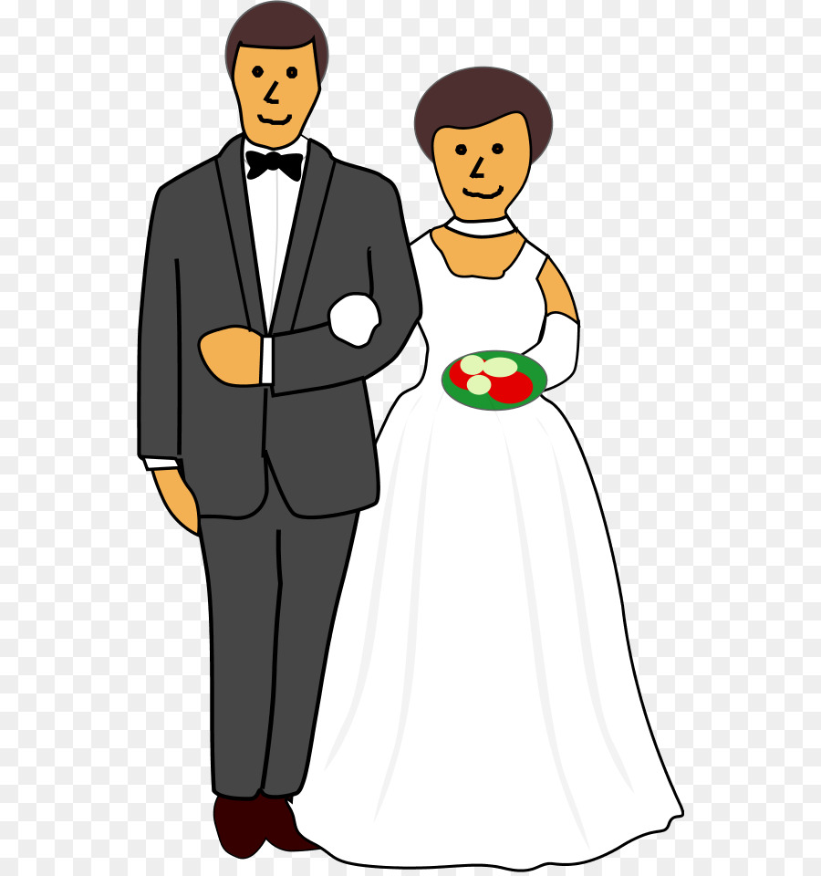 Wedding Couple Cartoon.