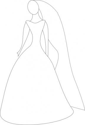 Cartoon Wedding Dresses.