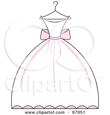 Cartoon Wedding Dress Clipart.