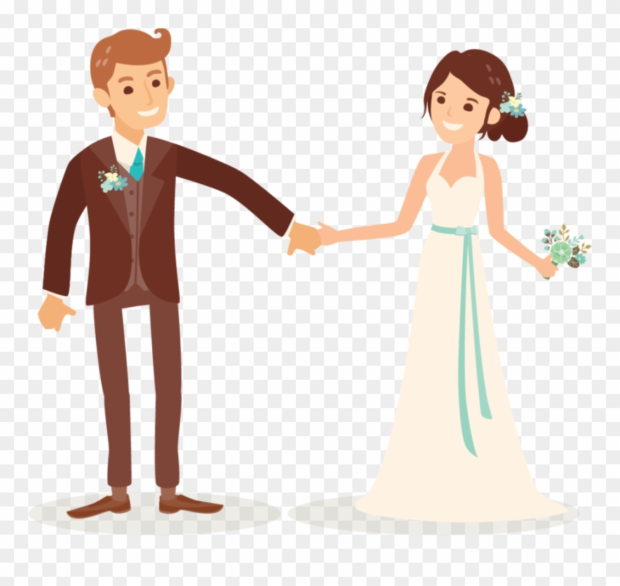 Cartoon Wedding Couple Png Clipart (#226833).