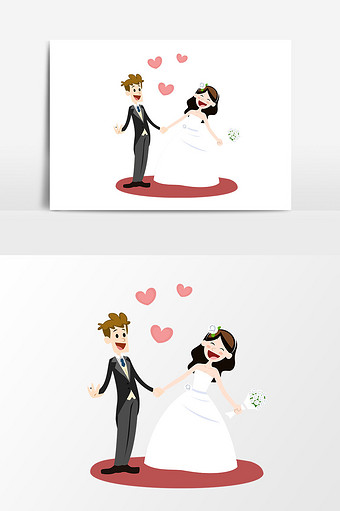 Cartoon Wedding Templates PSD,Vectors,PNG Images free download.
