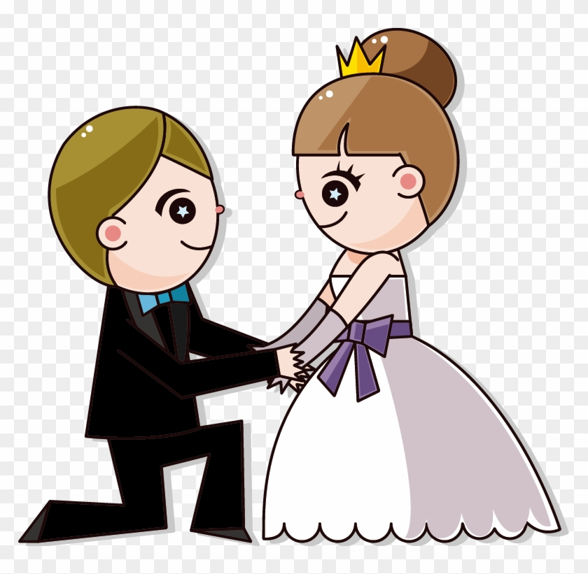 Wedding Invitation Cartoon Bride.