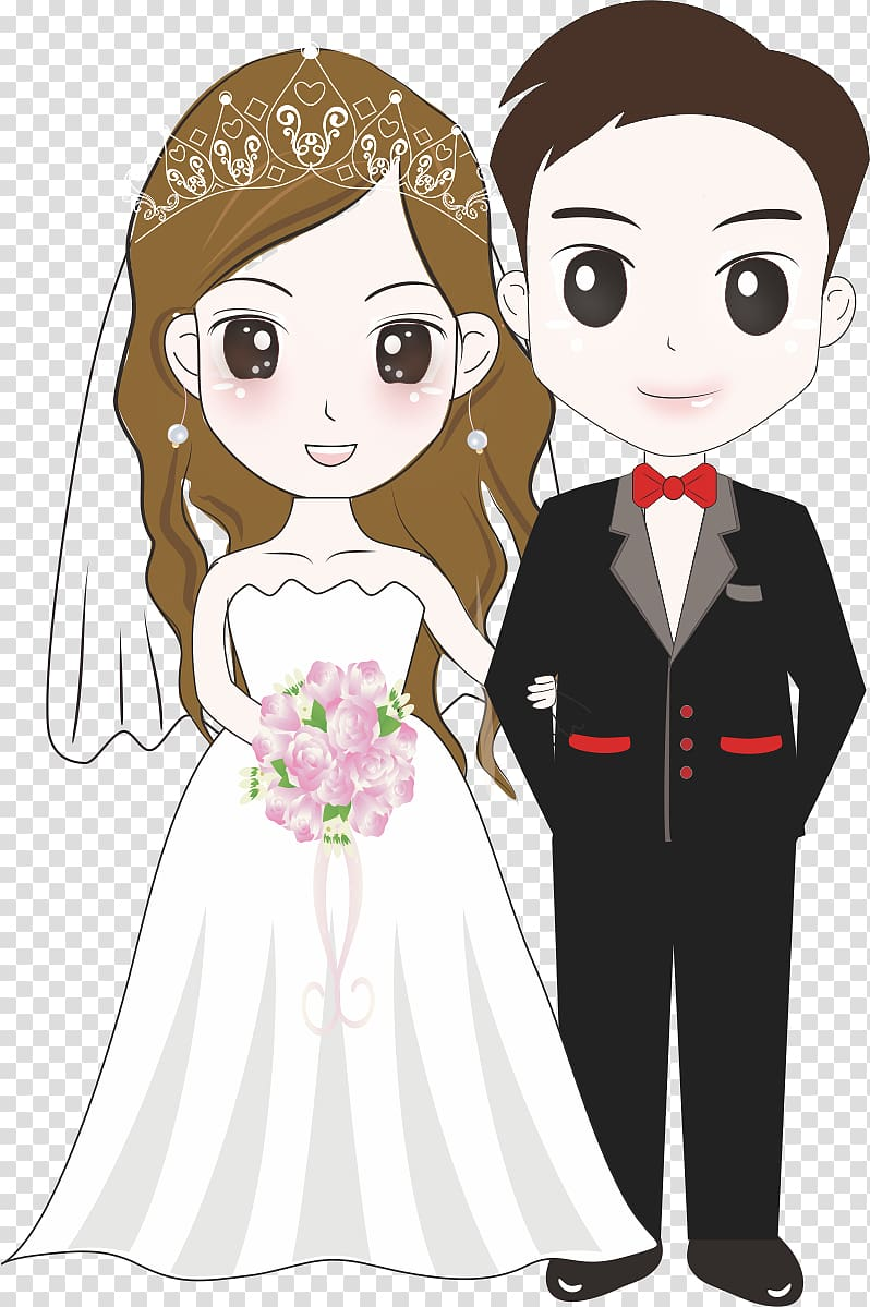 Wedding couple illustration, Bridegroom Wedding Illustration.