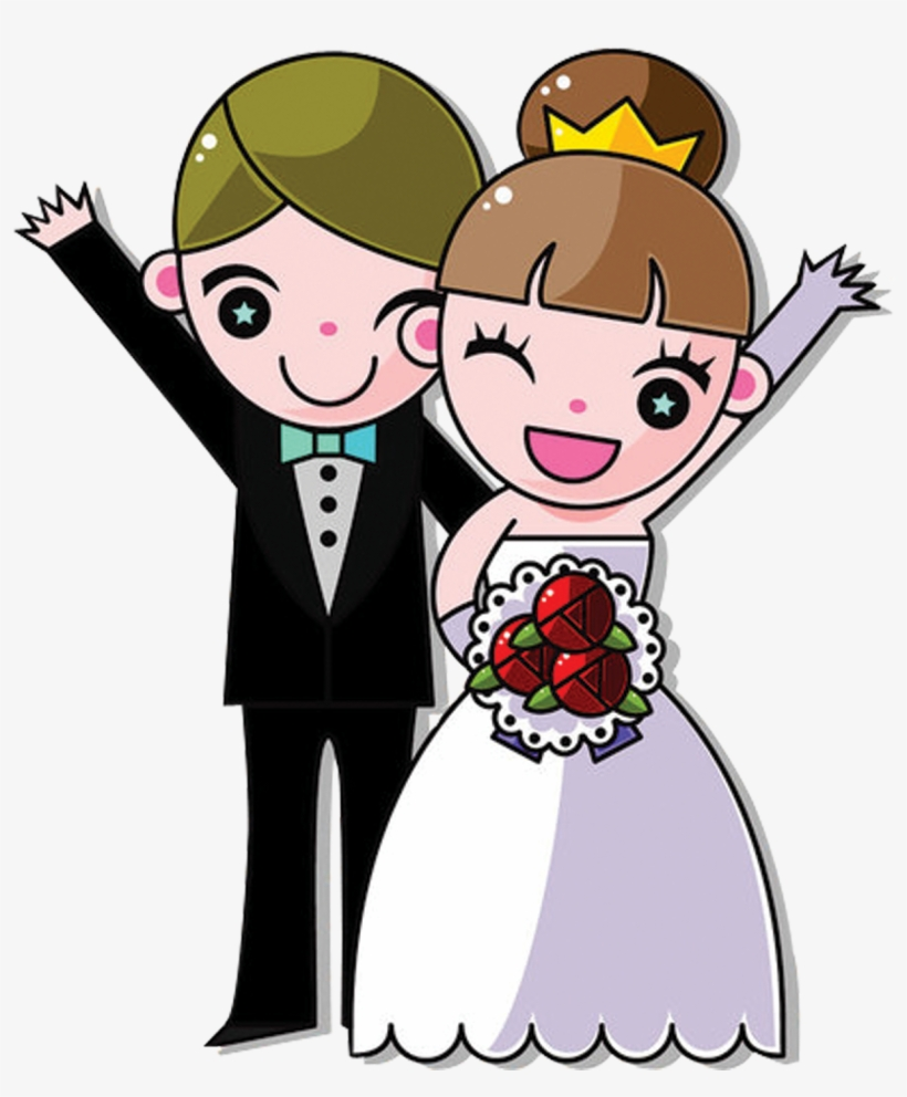 Wedding Couple Cartoon Images.