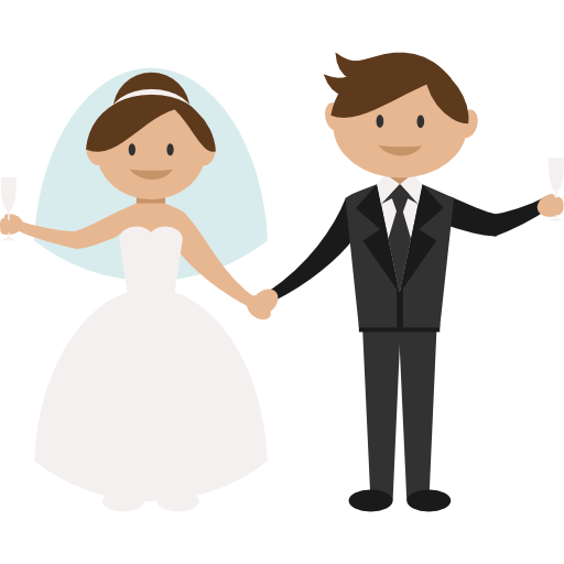 Cartoon Wedding Png Vector, Clipart, PSD.