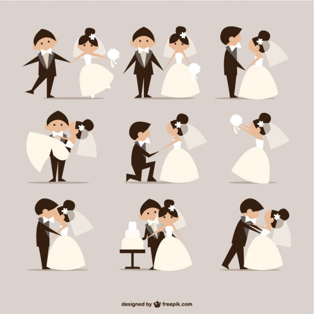 Cartoon Wedding Vectors, Photos and PSD files.