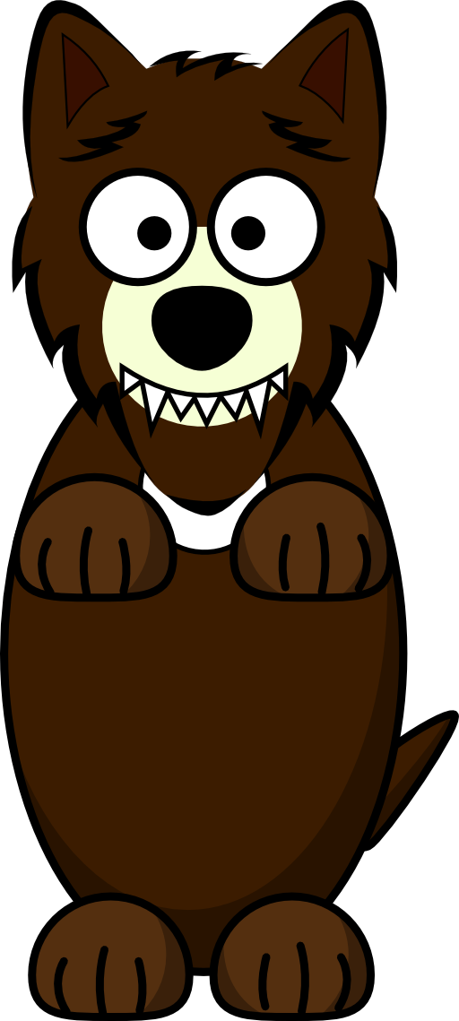 Cartoon Wolf Clipart.