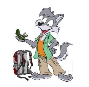 Free Cartoon Wolf Clipart.