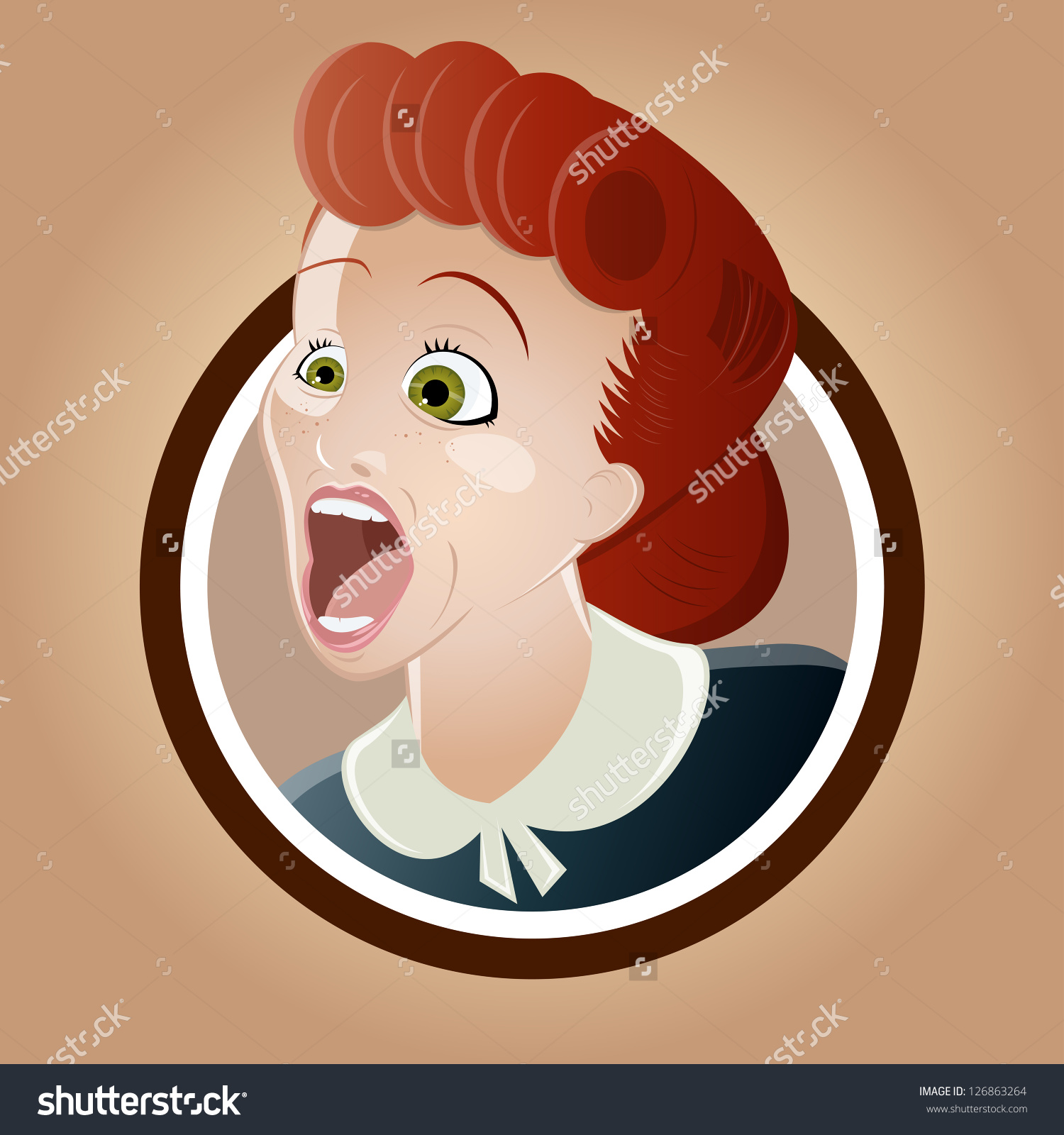 Cartoon Woman Yelling Clipart.